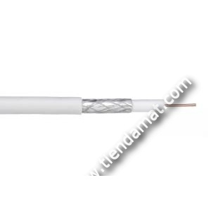 Cable Coaxial Blanco 75 Ohms para TV